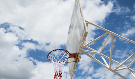 Basketball backboard Stock Images
