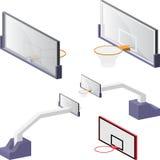 Basketball backboards Stock Photography