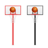 Basketball backboards Royalty Free Stock Photography