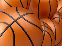 Basketball background. 3d render illustration of basketball background Royalty Free Stock Image