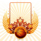 Basketball background stock illustration