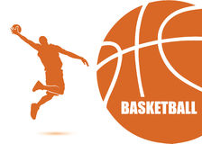 Basketball background. Vector illustration of basketball player Royalty Free Illustration
