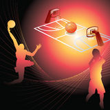 Basketball background. Vector basketball background.easy change colors Royalty Free Stock Photography