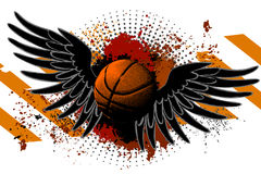 Basketball background ball Stock Images