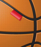 Basketball background with label Royalty Free Stock Photo