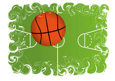 Basketball. The background with one basket ball Royalty Free Stock Photos