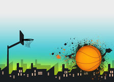 Basketball background. Basketball sport poster or flyer background with space Stock Photography