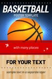 Basketball background - template for your sport design stock illustration