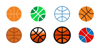 Basketball background. A basketball themed vector background featuring the stripes of a basketball and a background dot pattern Royalty Free Stock Photos