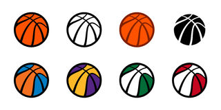 Basketball background. A basketball themed vector background featuring the stripes of a basketball and a background dot pattern Royalty Free Stock Image