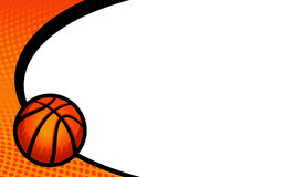 Basketball background. A basketball themed vector background featuring the stripes of a basketball and a background dot pattern Stock Images