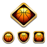 Basketball Badge Royalty Free Stock Photo