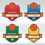 Basketball Badges Royalty Free Stock Photos
