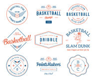 Basketball badges colored Royalty Free Stock Image