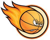 Basketball ball. On fire, illustration Stock Photo