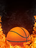 Basketball Ball. On Fire. 2D Graphics. Computer Design Royalty Free Stock Image