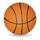 Basketball ball. Photorealistic basketball ball isolated on white,  illustration Stock Image