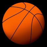 Basketball ball 2. Basketball ball on a black background Royalty Free Stock Photos