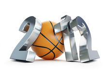 Basketball ball 2012. On a white background Royalty Free Stock Photo