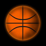 Basketball ball. On a black background Royalty Free Stock Photo