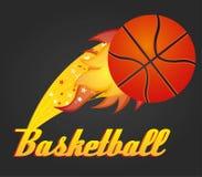 Basketball ball. Illustration with basketball ball, vector illustration Stock Photography