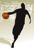 Basketball Ball 3. Drawing the man who played basketball Royalty Free Stock Photography