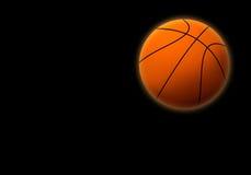 Basketball ball 3. Basketball ball on a black background. Soft illumination Royalty Free Stock Photos