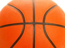 Basketball ball. Details of ball for playing in basketball game Stock Photos