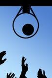 The basketball ball. Flies to a basket Royalty Free Stock Photos