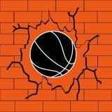 Basketball. Ball on abstract orange background Stock Photos