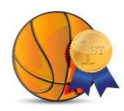 Basketball ball with award Stock Photography