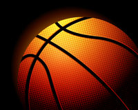 Basketball ball on black Royalty Free Stock Photography
