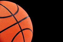 Basketball ball on black background. Stock Images