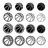 Basketball ball black symbol Royalty Free Stock Images