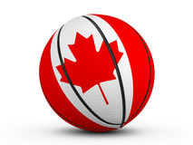 Basketball ball Canada flag. On a white background. 3D illustration Stock Photography