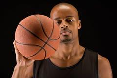 Basketball ball closeup Stock Photography