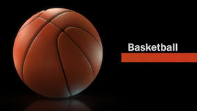 Basketball ball closeup. High-resolution image. 3d rendering Royalty Free Stock Photo