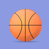 Basketball ball color flat icon vector Royalty Free Stock Photography