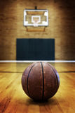 Basketball on Ball Court for Competition and Sports Royalty Free Stock Image