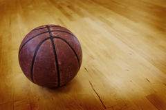 Basketball on Ball Court for Competition and Sports. Ball on basketball court for competition and sports Stock Images