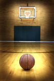 Basketball on Ball Court for Competition and Sports Stock Images