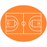 Basketball Ball Court vector. In a orange shape vector illustration