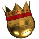 Basketball ball with a crown Royalty Free Stock Photography