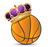 Basketball ball with a crown Royalty Free Stock Image