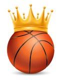 Basketball Ball in Crown Stock Photos