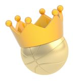 Basketball ball in the crown isolated Royalty Free Stock Photography