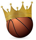 Basketball ball with crown Royalty Free Stock Photo