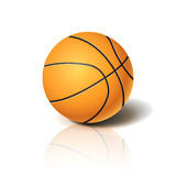Basketball ball 3D imitation. For your business project. Vector Illustration Stock Photos