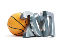 Basketball ball 2017 3D a white background Stock Image