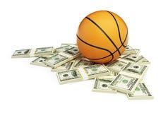 Basketball ball dollar. On a white background Stock Photo